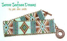 Julie Ann Smith Designs SERENE SEAFOAM DREAMS Odd Count Peyote