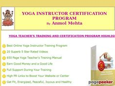 Online Yoga Instructor Certification Program