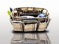 Purse ORGANIZER Insert Bag and Handbag Organizer / Khaki by obuyme, $25.95