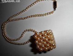 Stará Vintage Retro Bižuterie - náhrdelník - obrázek číslo 6