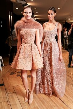 Backstage at Elie Saab Fall/Winter 2014 Haute Couture, PFW.