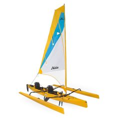 Hobie Mirage Tandem Island Sailing Tandem Kayak Sailing has never seemed so simple. When the wind blows, the Tandem Island flies across the water, powered by an expansive, easily tended mainsail. Canoe For Sale, Kayaks For Sale, Hobie Adventure Island, Adventure Gear, Hobie Tandem Island, Sailing Kayak, Hobie Mirage, Hobie Kayak, Stand Up Paddle