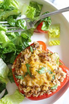 Turkey Stuffed Peppers | Skinnytaste.com | Bloglovin'