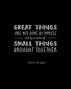 Inspiring Vincent Van Gogh quote - lettering via Magpie Paper Works