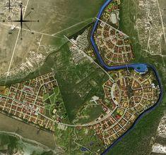 Генеральный план. Архитектурно-планировочная концепция застройки территории «Проект Пахра» © Архстройдизайн АСД