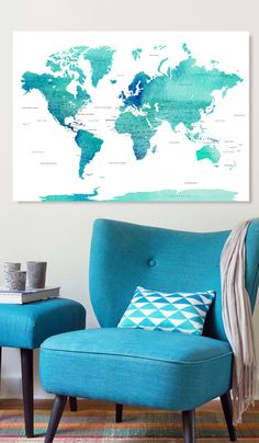 Push pin travel map world map push pin pin map custom map world push pin world map canvas world map watercolor blue countries world map with pins pin it map pin it adventures gift idea 240 pins gumiabroncs Choice Image