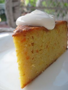middle eastern orange cake - this looks delicious! Flourless. Amazing. I made this for my mother-in-law over the weekend and she loved it. I also covered it in a thin layer of chocolate ganache...! Yum.
