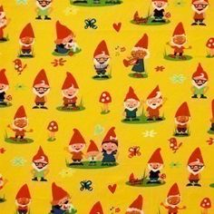 Michael Miller Gnomes  I HAVE THIS FABRIC!