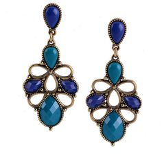 D22260 Fashion Earring With Multi Stone Design