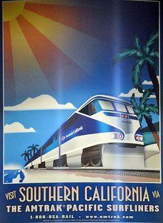 amtrak poster art | amtyrak posters | Amtrak 'sunset limited' Poster artwork Edited. ( 6 ...