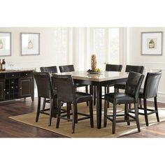 Monarch 7-Piece Dining Set in Black   Nebraska Furniture Mart