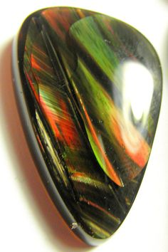 Fire obsidian Designer Cab Oval World class Collector by lapicarey... WOW!!!