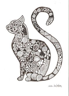 Coloriage chat cat Mandala Art, Mandalas Painting, Mandalas Drawing, Dot Painting, Zentangles, Mandala Colour, Mandala Design, Cat Coloring Page, Animal Coloring Pages