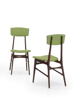 Anonymous; Teak Side Chairs, 1960s.