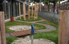 kinderdagverblijf Splash Pad, Natural Playground, Outdoor Play, Reggio, Diy For Kids, Picnic, Layout, School, Nature