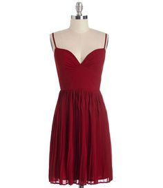 TW_5064 Short Wine Red Dress