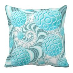 Heavenly Sea Shells, Abstract Beach in Pastel Pillow