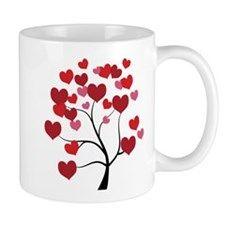 Heart Love Tree 11 oz Ceramic Mug Heart Love Tree Mugs by Adrianne_Desire - CafePress Mug Designs, Cold Drinks, Drinkware, Vivid Colors, Coffee Mugs, Ceramics, Love, Heart, Tableware