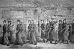 La police au Japon - Nouvelle tenue des gardes de la sureté publique à Yeddo, février 1879
