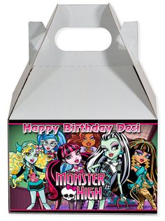 World of Pinatas - Monster High Personalized Gable Box (set of 6), $11.99 (http://www.worldofpinatas.com/monster-high-personalized-gable-box-set-of-6/)