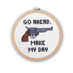 Dirty Harry Make My Day Mini Cross Stitch PDF Cross by PinoyStitch