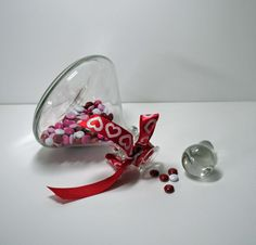 Short Glass Decanter  Great for Valentine's by BridgetsCollection, $9.99
