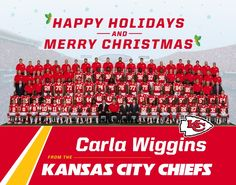 Chiefs Holiday Card - Create Your Own Kansas City Chiefs Holiday Card!