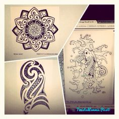 Which design to go first - Lotus Flower, Koi fish or Tribal??