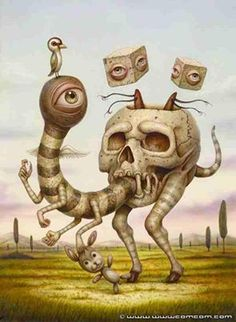 Surreal Skull Art