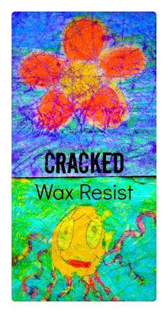 Cracked Wax Resist Art