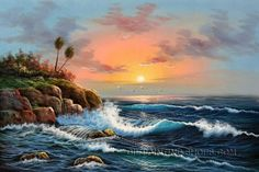 "Astonishing Wholesale Oil Paintings Seascape Paintings, Size: 36"" x 24"", $104. Url: http://www.oilpaintingshops.com/astonishing-wholesale-oil-paintings-seascape-paintings-1662.html"