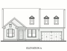 Kennedy Model - 3 bedroom 2 bath new home in Belmont, North Carolina - Morgan's Branch | NC - Bonterra Builders