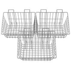 wall mounted wire storage basket (onions, garlic, potatoes