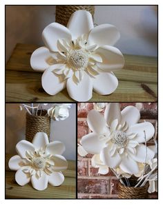 Large paper flowers  set of 5 by LovePaperBlooms on Etsy, $85.00