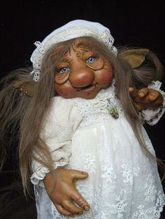 original ooak Troll child Lillilotta art doll by von xmasliesl