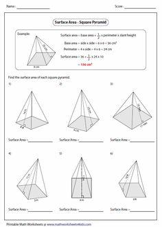 area worksheets surface area and worksheets on pinterest. Black Bedroom Furniture Sets. Home Design Ideas