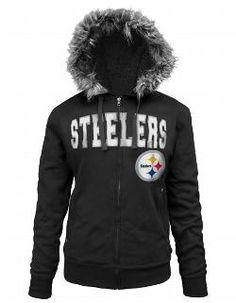 ddba91963 Pittsburgh Steelers Women s Full Zip Sherpa Black Fleece - Official Online  Store Steelers Hoodie