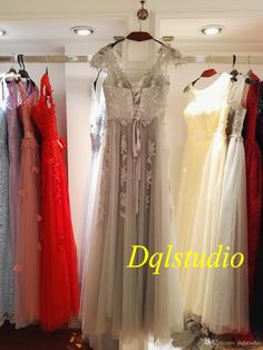 Silver Evening Dresses Illusion Sheer with Floral Applique Shining Beads Lace-up Back Long Formal Gowns Cheap Real Photos Burgundy Evening Dresses Prom Dresses 2017 Evening Dress Online with $119.0/Piece on Dqlstudio's Store | DHgate.com
