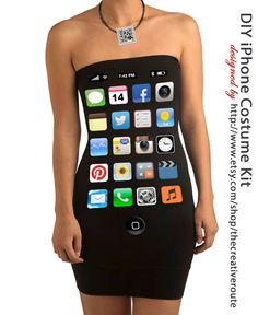 DIY Costumes Iphone kit No Sew Sexy or cute by TheCreativeRoute