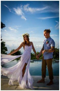 Boho beach bride free spirit lace wedding dress by Grace loves lace www.graceloveslace.com