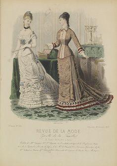 REVUE DE LA MODE Title: Paris fashion plate. (304) Published in:Paris, 1877