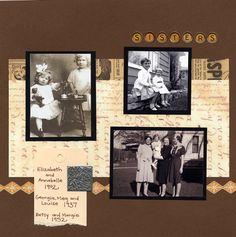 heritage album page idea
