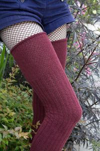 M45s - In a throwback to previous iterations of our beloved DreaM Stockings we've created M45s...  sort of a hybrid of our M Stockings and O Marleds* using our original naming system (who remembers the old M40s and M43s???).   Just like their previous incarnations, these thick ribbed socks are really comfortable! The ribbing is from the ankles to the knees with the top few inches being flat knit with a roll-top, for better fit where our legs expand, and they fold over for a nice-looking…