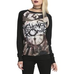 My Chemical Romance Black Parade Pullover Top Hot Topic ($26) ❤ liked on Polyvore featuring tops, sweater pullover, pullover tops, black top and black pullover