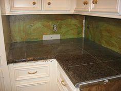 Granite Tile Countertop by *Audrey*, via Flickr Basement Apartment, Galley Kitchens, Granite Tile, Granite Tile Countertops, Remodel, Granite, Kitchen, Tile Countertops, Countertops