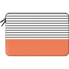 Macbook Sleeve - Minimal Stripes - Orange ($60) ❤ liked on Polyvore featuring accessories, tech accessories, bags and macbook sleeve