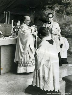 Low Mass at the site of the Apparitions at Lourdes