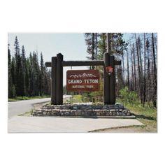 Grand Teton National Park US National Park Sign - birthday gifts party celebration custom gift ideas diy