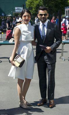 Bollywood actress Anushka Sharma and Indian cricketer Virat Kohli - At 2015 Wimbledon.  (10 July 2015)