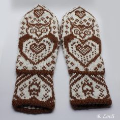 Ravelry: UgleHjerter pattern by StrikkeBea Knit Mittens, Ravelry, Knit Crochet, Gloves, Sewing, Knitting, Patterns, Projects, Threading